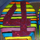Disco numbers birthday cake
